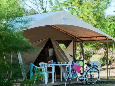 Photo for Camping Atlantic Club Montalivet ***** - Ecolodge Tent 3 Rooms 5 People