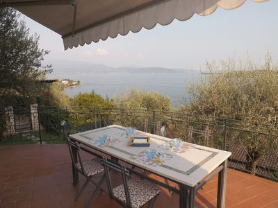 Photo for Fantastic, Panoramic Lake View with Patio and Pool - Holiday Apartment in Salò