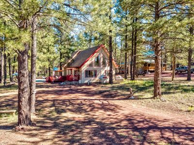 Photo for Picturesque A Frame Cabin in the heart of Sherwood Forest, Arizona (Sleeps 8)