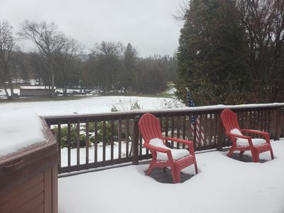 Snow from deck
