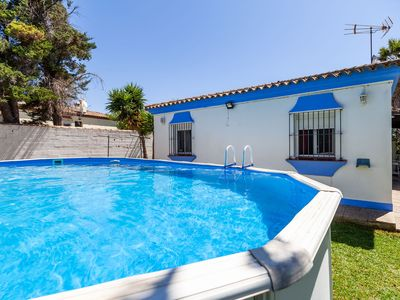 Photo for Air-Conditioned Home with Pool, Terrace, Garden & Wi-Fi ; Pets Allowed