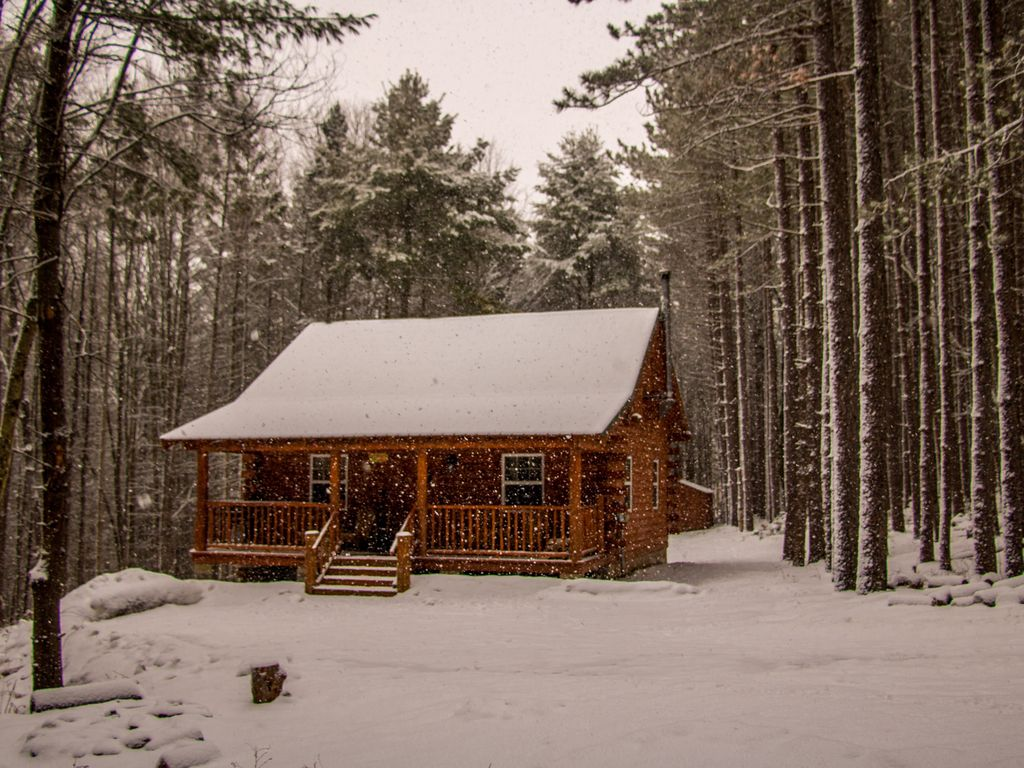 Secluded new built log cabin peaceful near cooperstown for Cooper s cabin park city