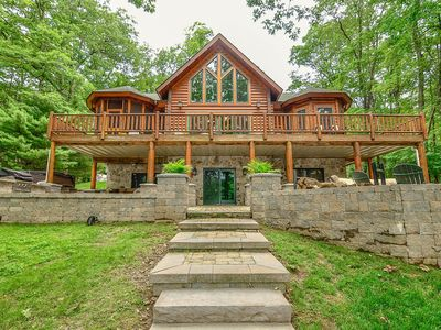 Photo for Lake Escape- Premier Lakefront home w/ Fire Pit and Hot Tub