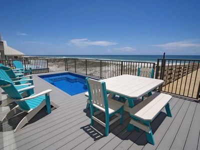 Photo for Gulf Front  8 Bed ~ Private Pool (Heated) ~ Sleeps up to 24  ~ Yassy Beach House