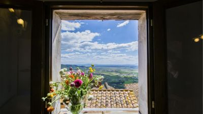 Photo for Casa Daniela is an exquisite one-bedroom home that sleeps two people in the upper part of Cortona, a