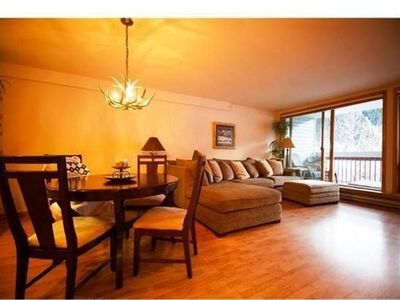 Photo for Walk to Lifts! Extra Large Condo, Yr-round Pool, Hot Tub, 1 King + Q Murphy Bed!