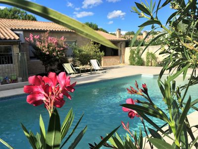 Photo for Weekly rental of a furnished ***, air conditioning, swimming pool, private parking