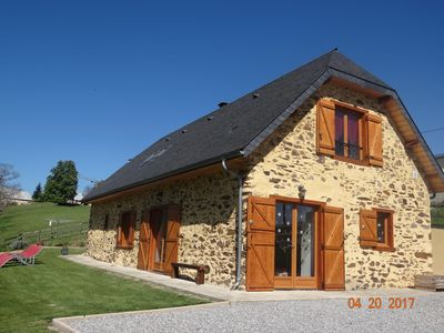 Photo for Former sheepfold renovated with beautiful view of the Pyrenees ideal for the family