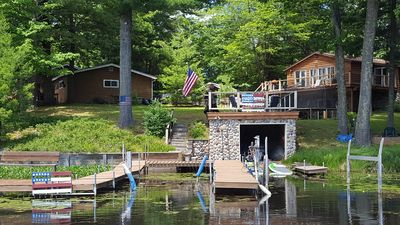 Photo for Centrally Located Log-Sided Minocqua Chain Cabin - Sleeps 10