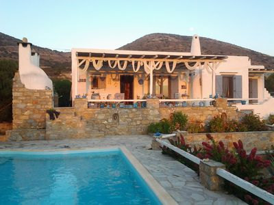 Photo for Villa with private pool.Huge verandas with sea and sunset view.