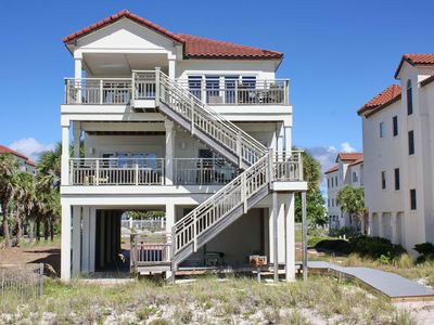 "Photo for Ready After Hurricane Michael! Great escape in Sunset Beach next to State Park! Beachfront, Sleeps 14, Elevator, Free Beach Gear, 4BR/4BA ""A Beach Beauty"""