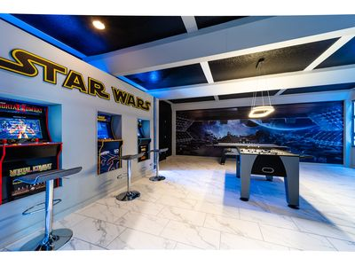 Photo for Luxurious 9BD/6BA Home near Disney*  Sleeps 22*. Star Wars Game Room!