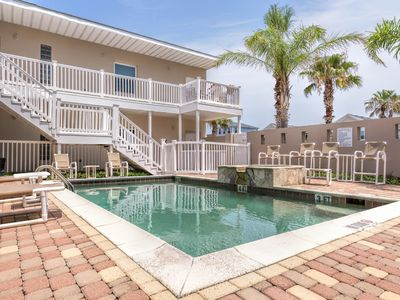 Photo for Family condo with pool & just 1 blk to beach!