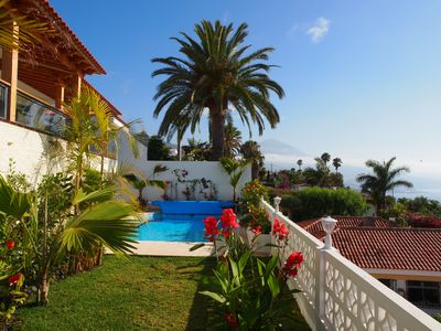 Photo for Villa in quiet location with superb views of the Atlantic Ocean and private pool