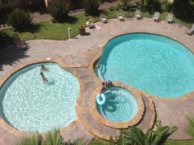 Pool is right below our Patio.