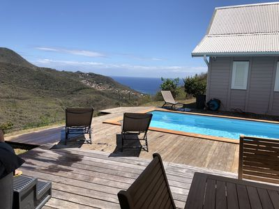 Photo for 2 Chalets with Pool and Jacuzzis seen Caribbean Sea at Anses d'Arlet