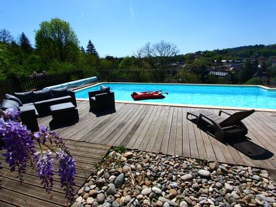 Photo for SARLAT House 4 BEDROOMS AIR CONDITIONING, Heated private pool, superb south view