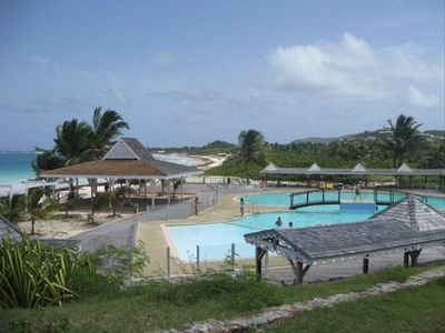 View of pool and beach
