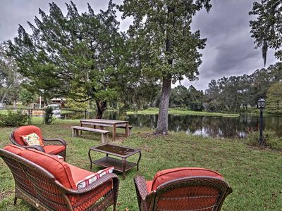 Photo for Cozy Lakefront Hernando House w/ Covered Patio!