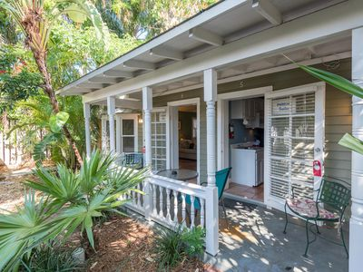 Photo for Studio suite w/ shared hot tubs, patio, kitchenette - steps from beach. Dogs OK!
