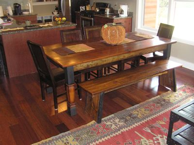 Solid Barnboard Table Awaits You When Its Time To Re-Fuel Yourself