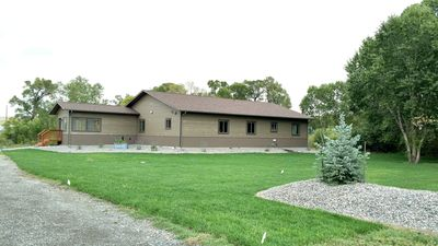 Photo for Look no longer brand new home on the Shield River, This is living in the Big Sky