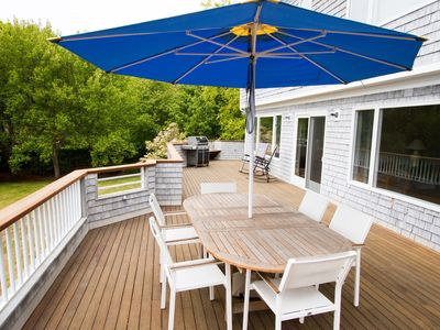 Large beautiful deck, with new webber grill.