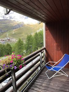 Photo for Apartment directly on the slopes - unique view of the Matterhorn