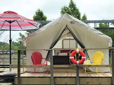 Photo for A Floating Safari Tent - Glamping St. Louis-Paddler's Rest