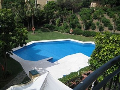 Photo for Stunning 1st Floor Apartment With Large Terrace Overlooking Pool And Beautiful