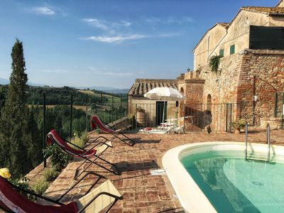 Photo for Country chic house, pool vew, WiFi, walking to a village