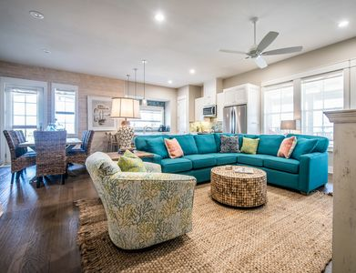 Living Area - Welcome to Port Aransas! This townhome is professionally managed by TurnKey Vacation Rentals.