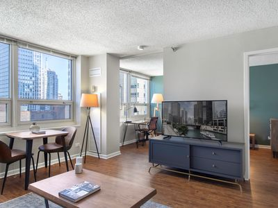 Photo for Open River North 1BR w/ Gym, W/D, near Magnificent Mile, by Blueground