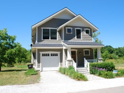 Photo for South Haven rental cottage with Master Suite balcony, large deck, & pool access!