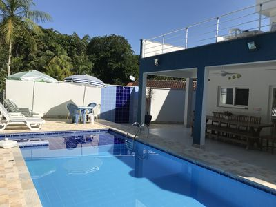 Photo for PRAIA GUARATUBA, COND., 4 SUITES WITH AIR COND., PRIVATE POOL, BARBECUE.