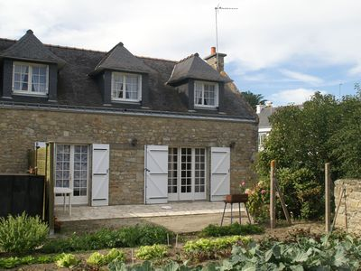 Photo for Semi-detached holiday home in old style near the sea in the point of Brittany