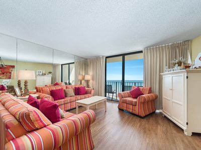 Photo for New Listing! Sweet beachfront condo @Edgewater! Poolside dining, Par-3 golf!