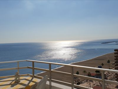 Photo for Ronda 3 Seafront Apartment, Los Boliches beach.  Fuengirola
