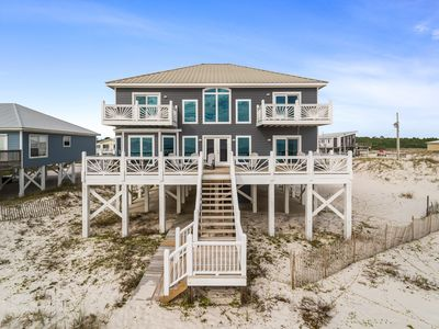 Photo for Breathtaking 4 Bedroom, 3 1/2 Bath private gulf front home. Totally renovated beach home with immaculate furnishings, large open decks and 3 master suites. The S.H.E.D accommodates up to 14 guests very comfortably and boasts over 3500 square feet.