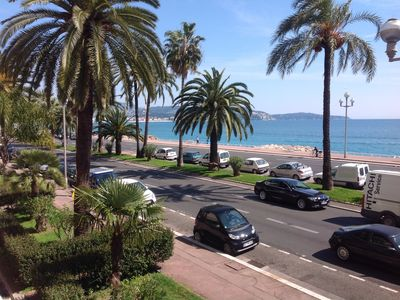 Photo for Beautiful 2-room apartment sea view Promenade des Anglais