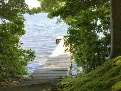 Photo for Mashpee Heaven: Lakefront 3BR Cottage w/ Private Pier & Big Patio