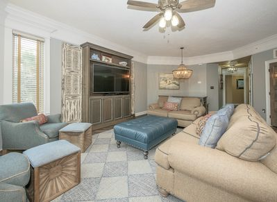 Living Room and Dining Area at 2112 SeaCrest