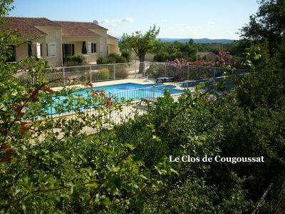 Photo for Semi-detached house in the Cèze Valley, with swimming pool on enclosed grounds of 4000 m2, near the Gorges de l'Ardèche, between the Cevennes and Mediterranée.