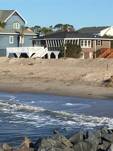 Photo for Oceanfront Beach Cottage on Quiet Point St