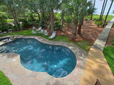 Photo for Beachfront large private lot with Pool, Spa, Game room & beach !!!
