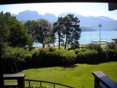 Photo for SEVRIER Lake Annecy apartment rental ideally located 30m beach