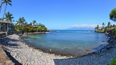 Photo for Best secret spot on Maui! Oceanfront air conditioned condo #108, ground floor