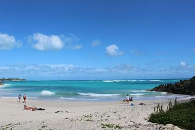 Beautiful John Smith's Bay Beach, Just a 5 min. walk from our front gate.