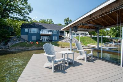 View of house from one of the two docks.