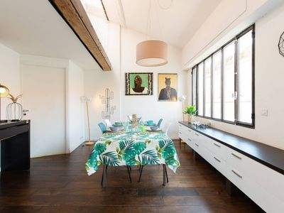 Photo for Contemporary apartment, duplex loft, in the heart of the old town